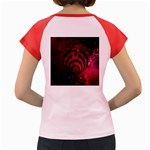 Bassnectar Galaxy Nebula Women s Cap Sleeve T-Shirt Back