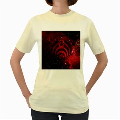 Bassnectar Galaxy Nebula Women s Yellow T-Shirt