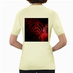 Bassnectar Galaxy Nebula Women s Yellow T-Shirt Back