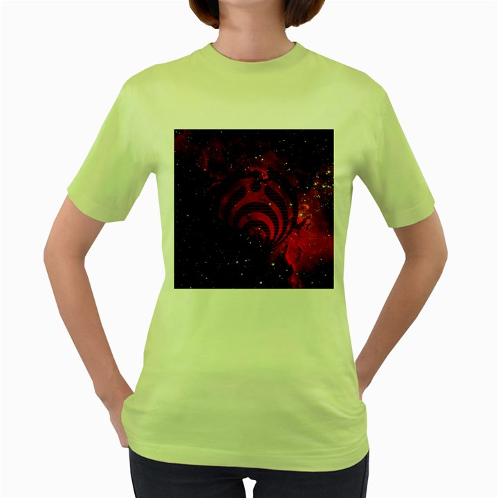 Bassnectar Galaxy Nebula Women s Green T-Shirt