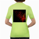 Bassnectar Galaxy Nebula Women s Green T-Shirt Back