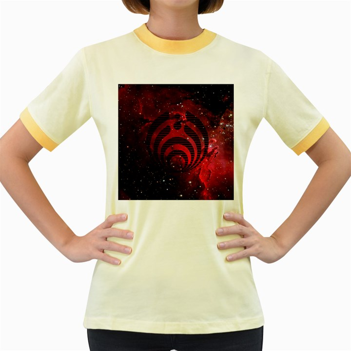 Bassnectar Galaxy Nebula Women s Fitted Ringer T-Shirts