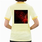 Bassnectar Galaxy Nebula Women s Fitted Ringer T-Shirts Back