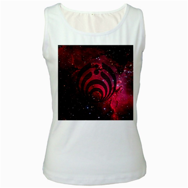 Bassnectar Galaxy Nebula Women s White Tank Top