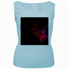 Bassnectar Galaxy Nebula Women s Baby Blue Tank Top