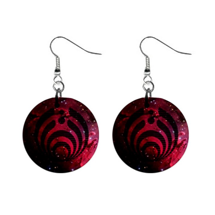 Bassnectar Galaxy Nebula Mini Button Earrings