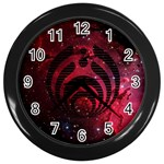 Bassnectar Galaxy Nebula Wall Clocks (Black) Front
