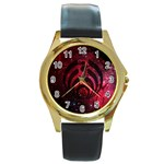 Bassnectar Galaxy Nebula Round Gold Metal Watch Front