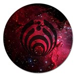 Bassnectar Galaxy Nebula Magnet 5  (Round) Front