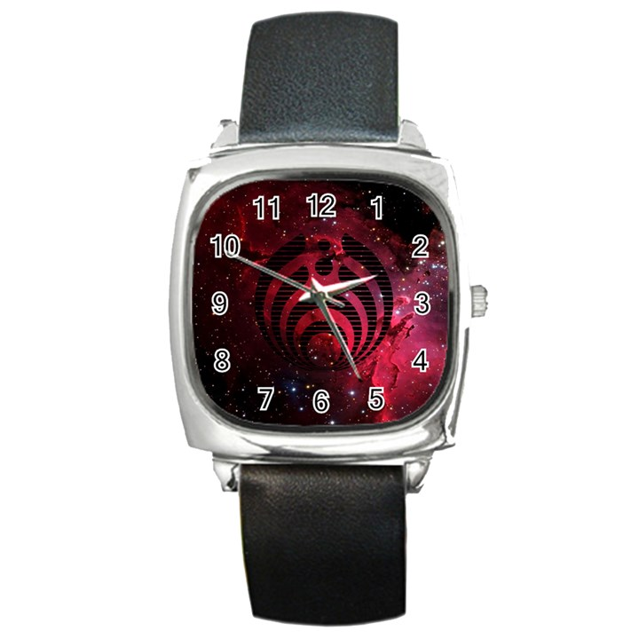 Bassnectar Galaxy Nebula Square Metal Watch