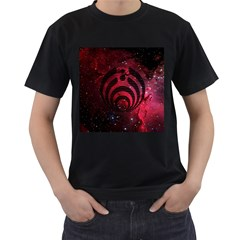 Bassnectar Galaxy Nebula Men s T-Shirt (Black) (Two Sided)