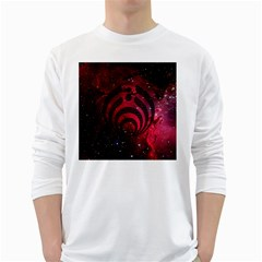 Bassnectar Galaxy Nebula White Long Sleeve T-Shirts