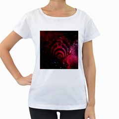 Bassnectar Galaxy Nebula Women s Loose-Fit T-Shirt (White)