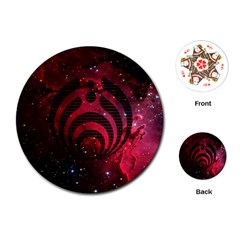 Bassnectar Galaxy Nebula Playing Cards (Round)