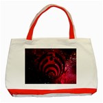 Bassnectar Galaxy Nebula Classic Tote Bag (Red) Front