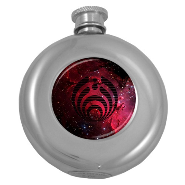 Bassnectar Galaxy Nebula Round Hip Flask (5 oz)