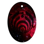 Bassnectar Galaxy Nebula Oval Ornament (Two Sides) Front