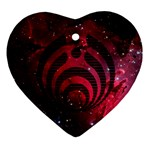 Bassnectar Galaxy Nebula Heart Ornament (2 Sides) Front