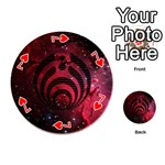 Bassnectar Galaxy Nebula Playing Cards 54 (Round)  Front - Heart7