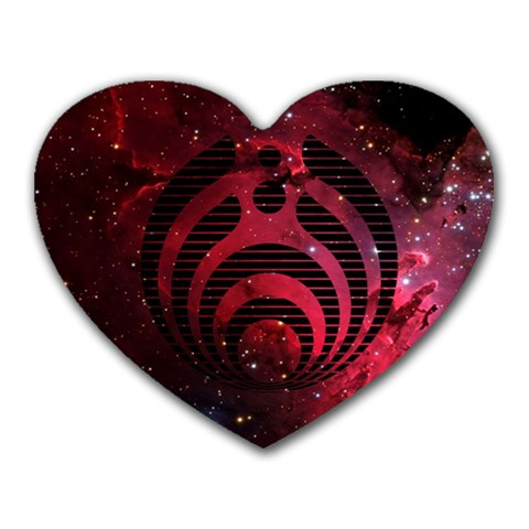 Bassnectar Galaxy Nebula Heart Mousepads