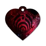 Bassnectar Galaxy Nebula Dog Tag Heart (Two Sides) Back