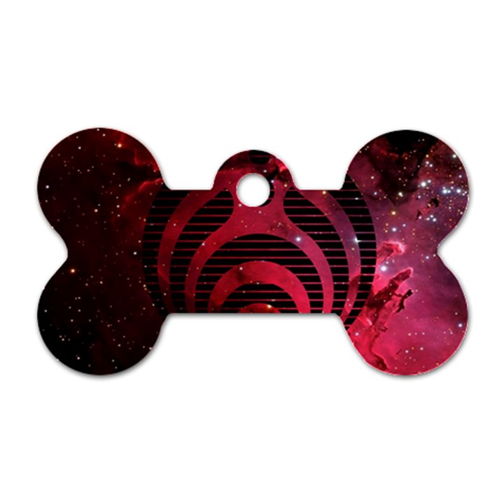 Bassnectar Galaxy Nebula Dog Tag Bone (Two Sides)
