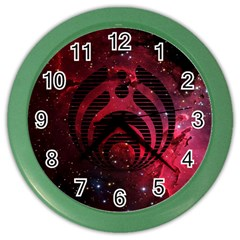 Bassnectar Galaxy Nebula Color Wall Clocks