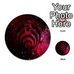 Bassnectar Galaxy Nebula Multi-purpose Cards (Round)  Back 32