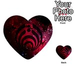 Bassnectar Galaxy Nebula Multi-purpose Cards (Heart)  Back 1