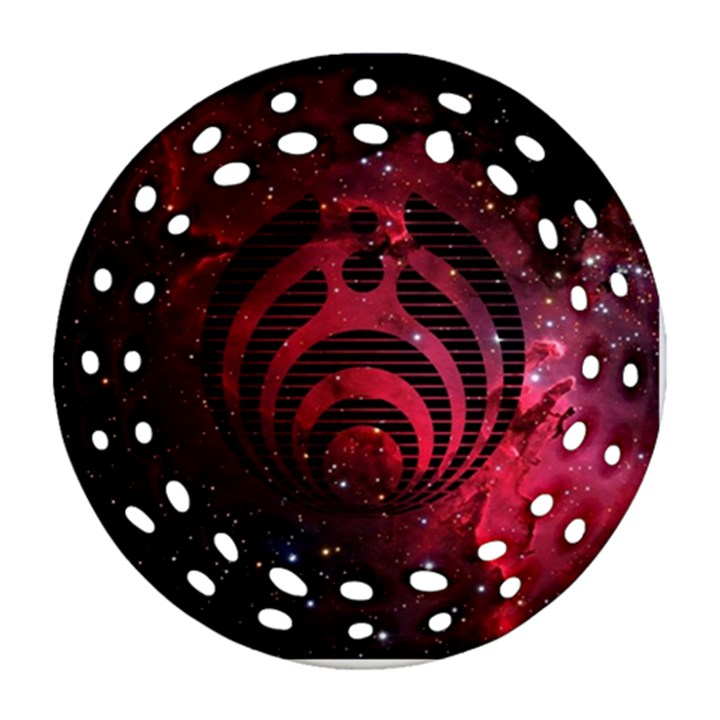 Bassnectar Galaxy Nebula Round Filigree Ornament (2Side)
