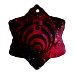 Bassnectar Galaxy Nebula Snowflake Ornament (2-Side) Front