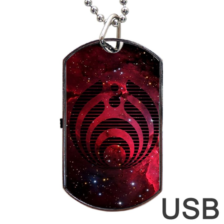 Bassnectar Galaxy Nebula Dog Tag USB Flash (Two Sides)
