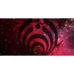 Bassnectar Galaxy Nebula Twin Heart Bottom 3D Greeting Card (8x4) Front