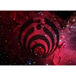 Bassnectar Galaxy Nebula Peace Sign 3D Greeting Card (7x5) Back