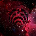 Bassnectar Galaxy Nebula Best Wish 3D Greeting Card (8x4) Inside