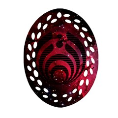 Bassnectar Galaxy Nebula Oval Filigree Ornament (2-Side)