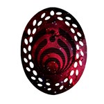 Bassnectar Galaxy Nebula Oval Filigree Ornament (2-Side)  Back