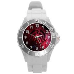 Bassnectar Galaxy Nebula Round Plastic Sport Watch (L)