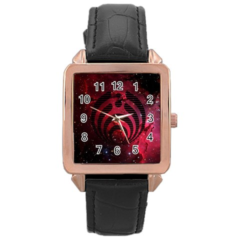 Bassnectar Galaxy Nebula Rose Gold Leather Watch