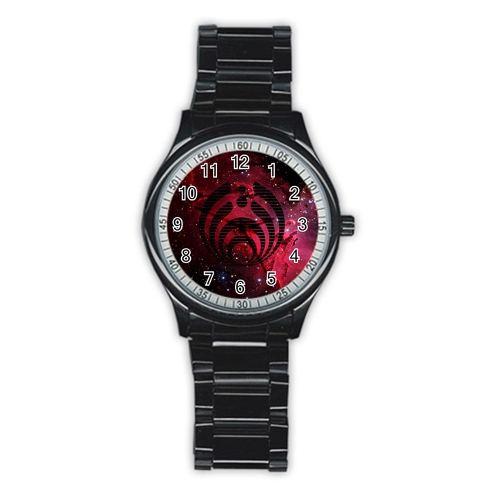 Bassnectar Galaxy Nebula Stainless Steel Round Watch