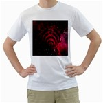 Bassnectar Galaxy Nebula Men s T-Shirt (White)  Front