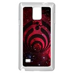 Bassnectar Galaxy Nebula Samsung Galaxy Note 4 Case (White) Front