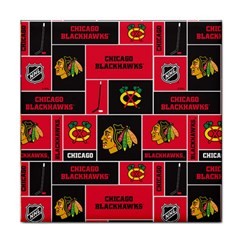 Chicago Blackhawks Nhl Block Fleece Fabric Tile Coasters