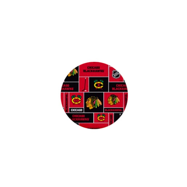 Chicago Blackhawks Nhl Block Fleece Fabric 1  Mini Magnets
