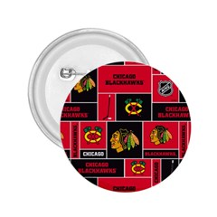 Chicago Blackhawks Nhl Block Fleece Fabric 2.25  Buttons