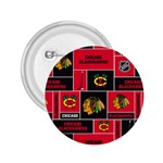 Chicago Blackhawks Nhl Block Fleece Fabric 2.25  Buttons Front
