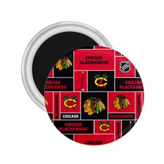 Chicago Blackhawks Nhl Block Fleece Fabric 2.25  Magnets