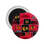 Chicago Blackhawks Nhl Block Fleece Fabric 2.25  Magnets Front