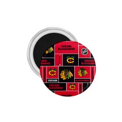 Chicago Blackhawks Nhl Block Fleece Fabric 1.75  Magnets