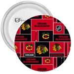 Chicago Blackhawks Nhl Block Fleece Fabric 3  Buttons Front